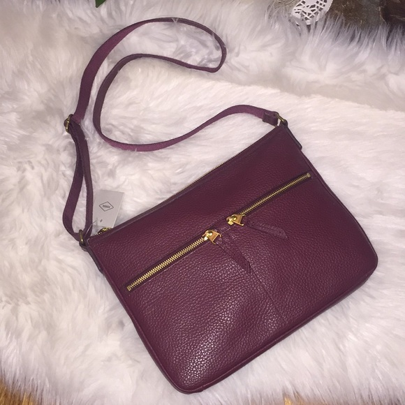 💞👜Fossil leather Elise large cross-body bag👜💞 81499af91b29b
